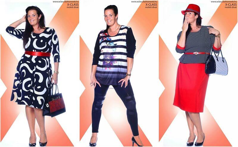 Az X-CLASS prémium minőségű ruhái között a vékony és a teltebb nők egyaránt  kincsekre bukkanhatnak. Kivételes 612964496c