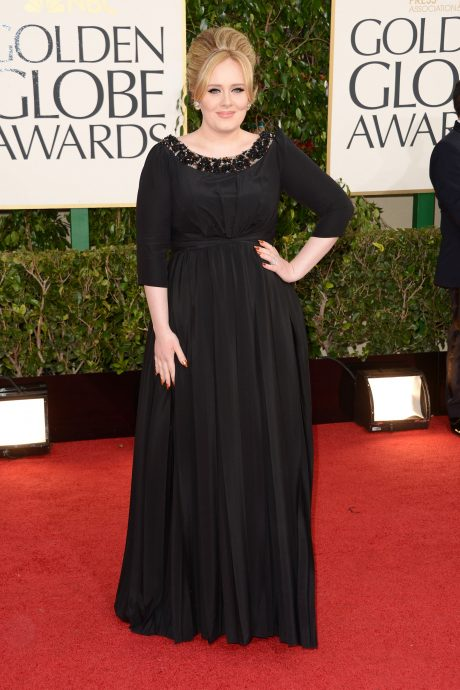 BEVERLY HILLS, CA - JANUARY 13:  Singer Adele arrives at the 70th Annual Golden Globe Awards held at The Beverly Hilton Hotel on January 13, 2013 in Beverly Hills, California.  (Photo by Jason Merritt/Getty Images)